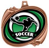 """Hasty 2.5"""" Hurricane Medal Spectrum Soccer Insert"""