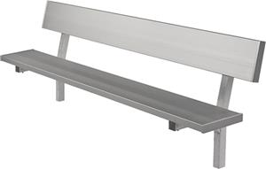 Highland Aluminum Players In-Ground Bench W/Back