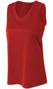 A4 Women's Polyester Athletic Tank Shirt. Printing is available for this item.