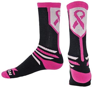 Red Lion The Fighter Pink Ribbon Crew Socks
