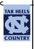 College Tar Heels 2-Sided Country Garden Flag