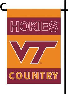 VA Tech Hokies Double and Two Sided Flag