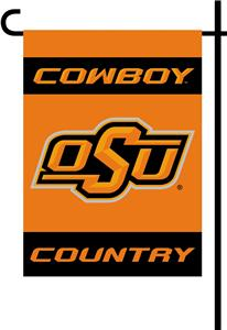 College Oklahoma State 2-Sided Country Garden Flag