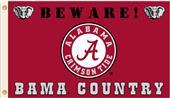 College Alabama Beware of Bama Country 3'x5' Flag
