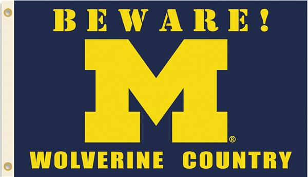 College Michigan Beware Wolverine Country Flag Epic Sports