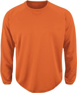 Majestic Long Sleeve Home Plate Tech Fleece Shirt