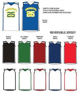 69325d17aaf Reebok Unisex Reversible Game Custom Basketball Jerseys - Basketball ...