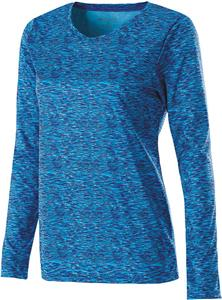 Holloway Ladies Long Sleeve Space Dye Shirts. Printing is available for this item.