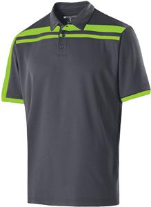 Holloway Adult 3 Button Charge Polos. Embroidery is available on this item.
