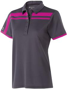 Holloway Ladies 5 Button Charge Polo. Embroidery is available on this item.