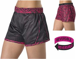 Alleson Womens Girls Reversible Shorts C/O