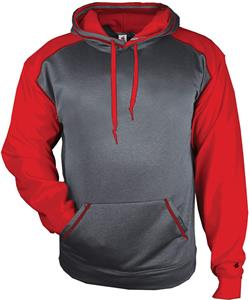 Badger Sport Adult Sport Heather Hoodie. Decorated in seven days or less.