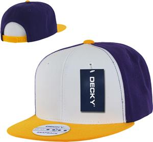 Decky 3 Tone Flat Bill 6-panel Snapback Caps