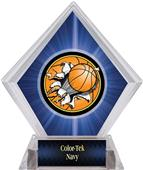 Bust-Out Basketball Blue Diamond Ice Trophy