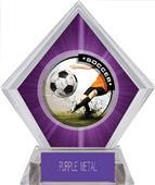 Awards P.R. Male Soccer Purple Diamond Ice Trophy