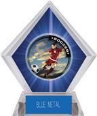 P.R. Female Soccer Blue Diamond Ice Trophy