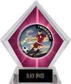 P.R. Female Soccer Pink Diamond Ice Trophy