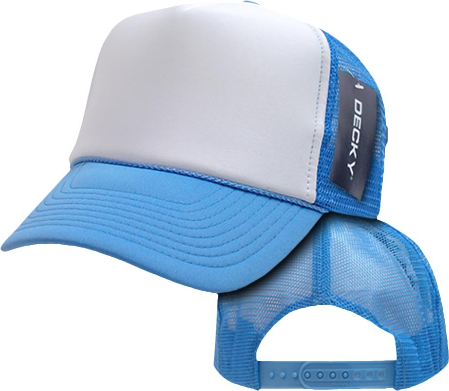 Decky Trucker Hats: E108531 Decky 2 Tone Foam Trucker Caps