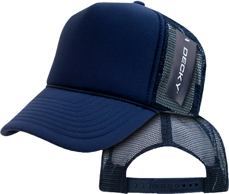 Decky Trucker Hats: E108535 Decky Solid Color Foam 6-Panel Trucker Caps
