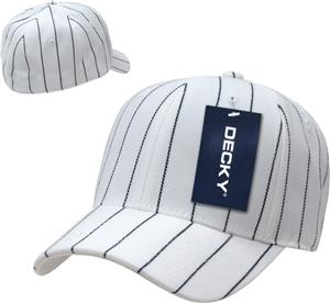 17c62a306eb2e Decky Fitted 6-panel Pin Striped Custom Baseball Caps - Soccer ...