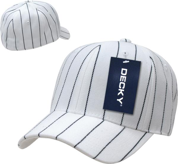 afd8ead91f85 Home Cheer Caps E108562 Decky Fitted 6-panel Pin Striped Baseball Caps