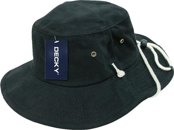 1bcd6d7824a Decky Aussie Plain Outback Bucket Hats