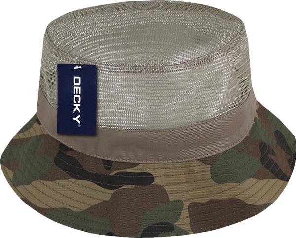 15dc9101228c Decky Mesh Top Bucket Hats