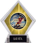 P.R. Female Soccer Yellow Diamond Ice Trophy