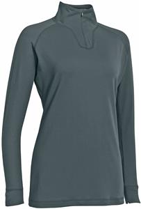 "Womens Long Sleeve Stretch 1/4"" Zip Pullover"