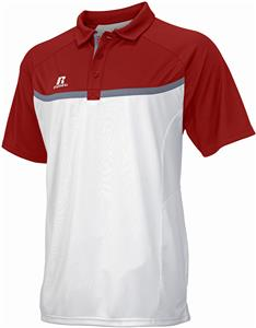 Russell Athletic Mens Wicking Gameday Polo - CO. Embroidery is available on this item.