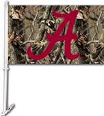 COLLEGIATE Alabama Realtree Camo Car Flag