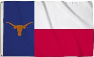 COLLEGIATE Texas Motif 3' x 5' Flag w/Grommets