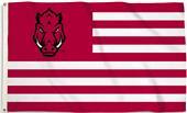 COLLEGIATE Arkansas Stripes 3' x 5' Flag w/Grommet