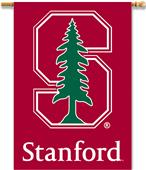 """COLLEGIATE Stanford 2-Sided 28""""x40"""" Banner w/Pole"""