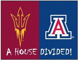 Fan Mats Arizona State/Arizona House Divided Mat