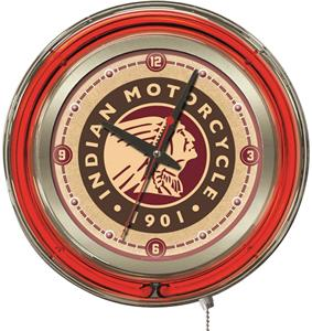 "Flooring Holland Mi >> Holland Indian Motorcycle 15"" Neon Clock - Playground ..."
