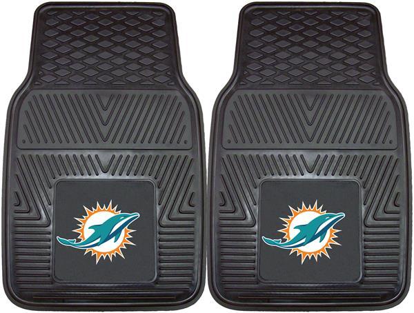 Peachy Fan Mats Nfl Miami Dolphins Vinyl Car Mats Set Pabps2019 Chair Design Images Pabps2019Com