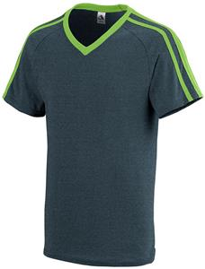 Augusta Sportswear Get Rowdy Shoulder Stripe Tee. Printing is available for this item.