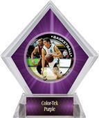 P.R. Male Basketball Purple Diamond Ice Trophy