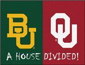 Fan Mats NCAA Baylor/Oklahoma House Divided Mat