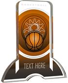 "6"" Legacy TRUacrylic Basketball 3/4"" Thick Trophy"