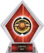 "2"" Saturn Basketball Red Diamond Ice Trophy"