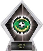 "2"" Saturn Soccer Black Diamond Ice Trophy"