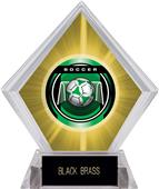 "2"" Legacy Soccer Yellow Diamond Ice Trophy"