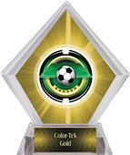 Awards Saturn Soccer Yellow Diamond Ice Trophy