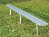 NRS Permanent Bench W/O Backrest In-Ground Mount 72 HOUR FAST SHIP