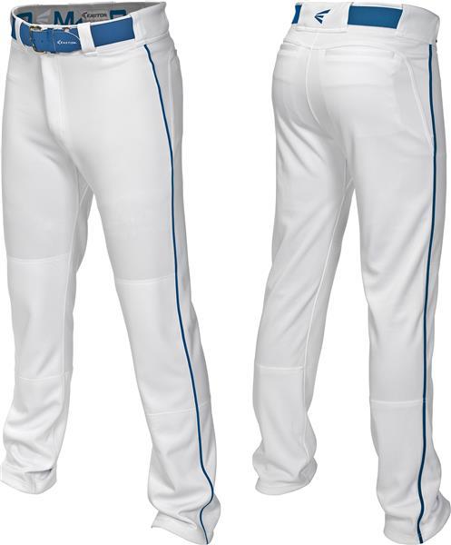 Easton Mako 2 Piped Pant White//Navy Adult Sizes