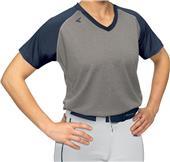 Easton V-Neck Short Sleeve Raglan Softball Jerseys