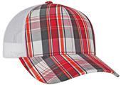 Pacific Headwear Plaid Trucker Mesh Cap