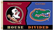 Collegiate Florida/Florida St. House Divided Flag